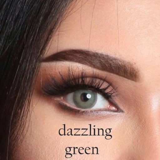 luminous contact lenses dazzling green عدسات لاصقة لومينوس دازلنق قرين